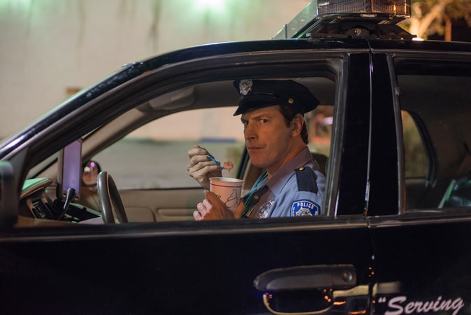 """ROB HUEBEL as Officer Chandler in the New Line Cinema and Village Roadshow Pictures comedy """"THE HOUSE,"""" a Warner Bros. Pictures release."""