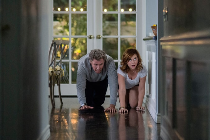 """WILL FERRELL as Scott Johansen and AMY POEHLER as Kate Johansen in the New Line Cinema and Village Roadshow Pictures comedy """"THE HOUSE,"""" a Warner Bros. Pictures release."""