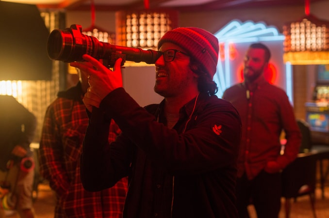 """Director/writer/producer ANDREW JAY COHEN on the set of the New Line Cinema and Village Roadshow Pictures comedy """"THE HOUSE,"""" a Warner Bros. Pictures release."""