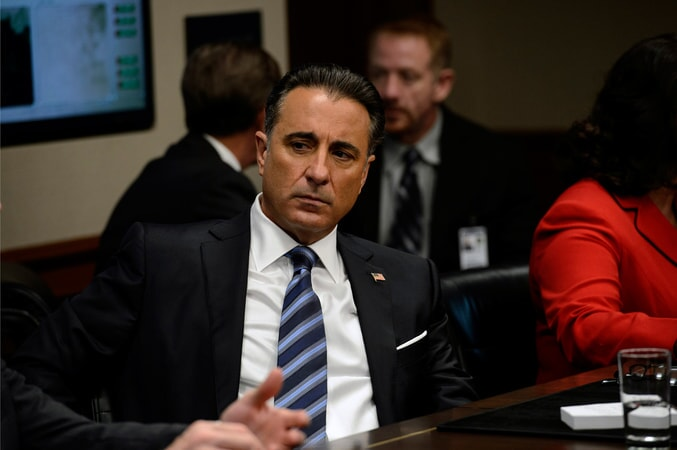 "ANDY GARCIA as President Andrew Palma in Warner Bros. Pictures' and Skydance's suspense thriller ""GEOSTORM,"" a Warner Bros. Pictures release."