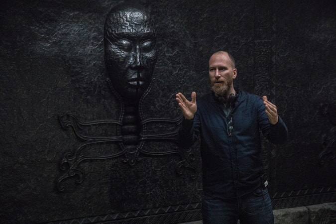 """Director ROAR UTHAUG on the set of Warner Bros. Pictures' and Metro-Goldwyn-Mayer Pictures' action adventure """"TOMB RAIDER,"""" a Warner Bros. Pictures release."""