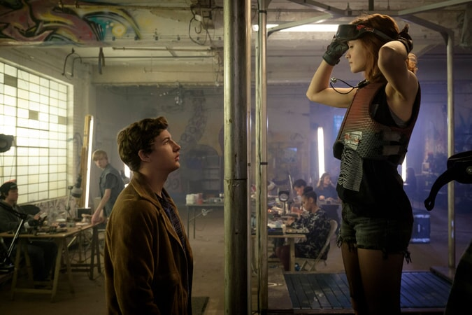 """TYE SHERIDAN as Wade Watts and OLIVIA COOKE as Samantha Cook in Warner Bros. Pictures', Amblin Entertainment's and Village Roadshow Pictures' science fiction action adventure """"READY PLAYER ONE,"""" a Warner Bros. Pictures release."""