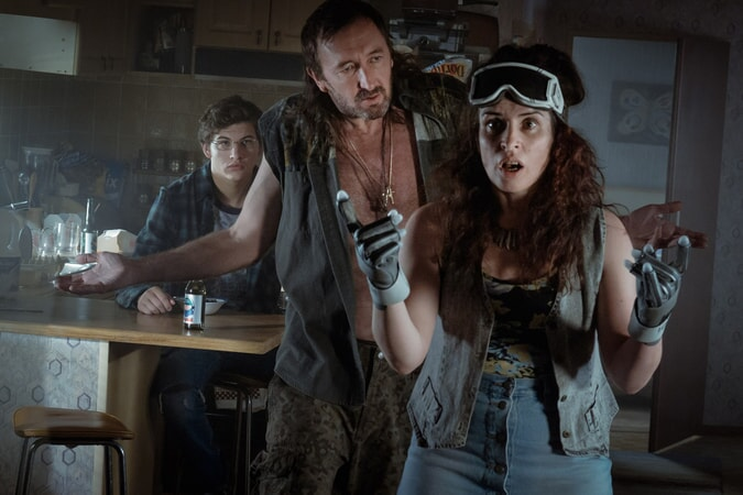 """TYE SHERIDAN as Wade, RALPH INESON as Rick and SUSAN LYNCH as Alice in Warner Bros. Pictures', Amblin Entertainment's and Village Roadshow Pictures' action adventure """"READY PLAYER ONE,"""" a Warner Bros. Pictures release."""
