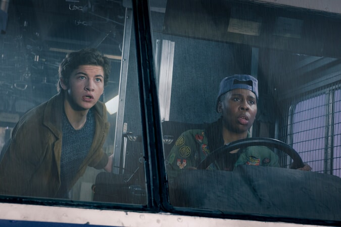 """TYE SHERIDAN as Wade and LENA WAITHE as Helen in Warner Bros. Pictures', Amblin Entertainment's and Village Roadshow Pictures' action adventure """"READY PLAYER ONE,"""" a Warner Bros. Pictures release."""