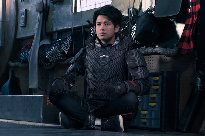 """WIN MORISAKI as Daito in Warner Bros. Pictures', Amblin Entertainment's and Village Roadshow Pictures' action adventure """"READY PLAYER ONE,"""" a Warner Bros. Pictures release."""