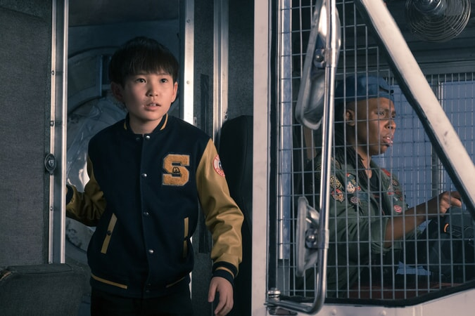 """PHILIP ZHAO as Sho and LENA WAITHE as Helen in Warner Bros. Pictures', Amblin Entertainment's and Village Roadshow Pictures' action adventure """"READY PLAYER ONE,"""" a Warner Bros. Pictures release."""