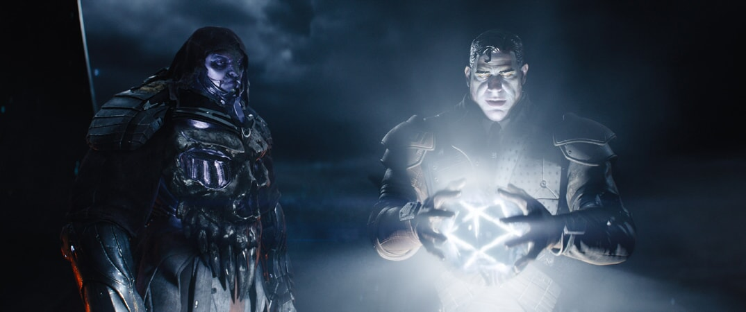 """(L-R) T.J. MILLER as I-R0k and BEN MENDELSOHN as Sorrento in Warner Bros. Pictures', Amblin Entertainment's and Village Roadshow Pictures' action adventure """"READY PLAYER ONE,"""" a Warner Bros. Pictures release."""