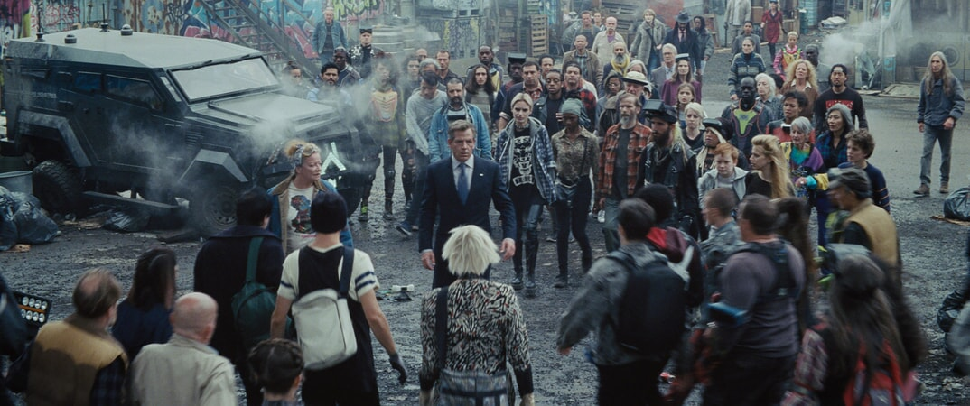 """(Center) BEN MENDELSOHN as Nolan Sorrento in Warner Bros. Pictures', Amblin Entertainment's and Village Roadshow Pictures' action adventure """"READY PLAYER ONE,"""" a Warner Bros. Pictures release."""