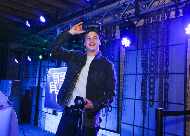 """TYE SHERIDAN at SXSW 2018 in Austin, Texas for Warner Bros. Pictures,' Amblin Entertainment's and Village Roadshow Pictures' science fiction action adventure """"READY PLAYER ONE,"""" a Warner Bros. Pictures release."""
