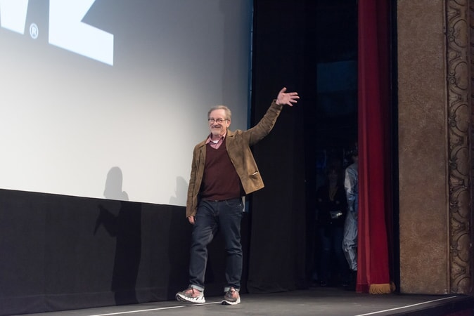 """Director STEVEN SPIELBERG at SXSW 2018 in Austin, Texas for Warner Bros. Pictures,' Amblin Entertainment's and Village Roadshow Pictures' science fiction action adventure """"READY PLAYER ONE,"""" a Warner Bros. Pictures release."""
