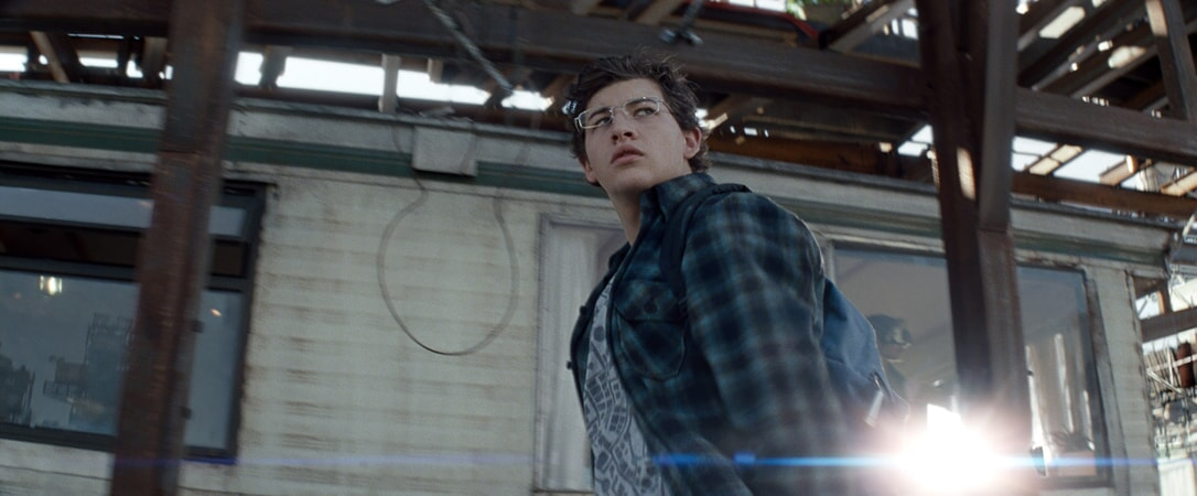 """TYE SHERIDAN as Wade in Warner Bros. Pictures', Amblin Entertainment's and Village Roadshow Pictures' action adventure """"READY PLAYER ONE,"""" a Warner Bros. Pictures release."""