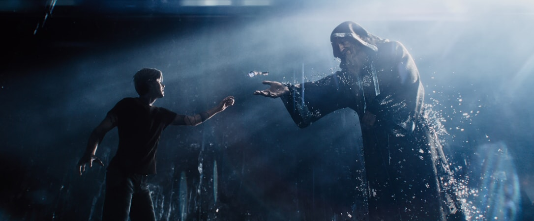 """(L-R) TYE SHERIDAN as Parzival and MARK RYLANCE as Anorak in Warner Bros. Pictures', Amblin Entertainment's and Village Roadshow Pictures' action adventure """"READY PLAYER ONE,"""" a Warner Bros. Pictures release."""