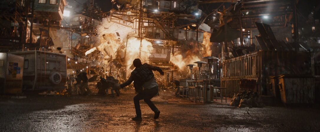 """A scene from Warner Bros. Pictures', Amblin Entertainment's and Village Roadshow Pictures' action adventure """"READY PLAYER ONE,"""" a Warner Bros. Pictures release."""