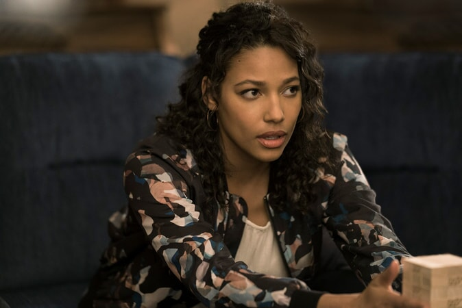 "KYLIE BUNBURY as Michelle in New Line Cinema's action comedy ""GAME NIGHT,"" a Warner Bros. Pictures release."