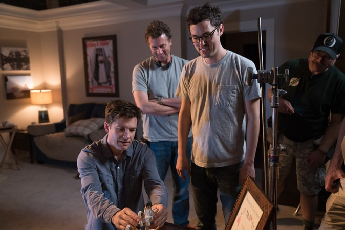 "(L-R) JASON BATEMAN, director JONATHAN GOLDSTEIN and director JOHN FRANCIS DALEY on the set of New Line Cinema's action comedy ""GAME NIGHT,"" a Warner Bros. Pictures release."