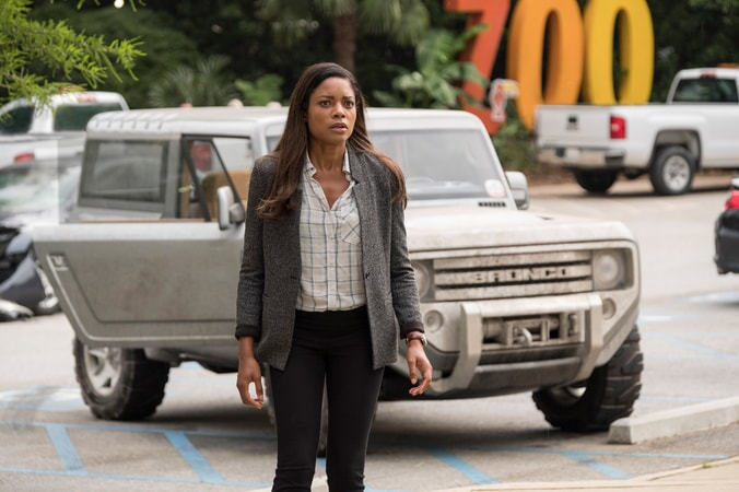 "NAOMIE HARRIS as Dr. Kate Caldwell in New Line Cinema's and ASAP Entertainment's action adventure ""RAMPAGE,"" a Warner Bros. Pictures release."