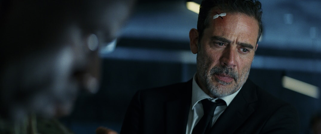 "JEFFREY DEAN MORGAN as Harvey Russell in New Line Cinema's and ASAP Entertainment's action adventure ""RAMPAGE,"" a Warner Bros. Pictures release."