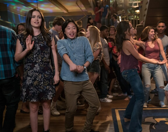 "(L-R) MOLLY GORDON as Maddie and JIMMY O. YANG as Tyler in New Line Cinema's comedy ""LIFE OF THE PARTY,"" a Warner Bros. Pictures' release."