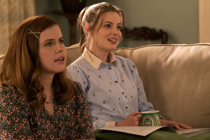 "(L-R) JESSIE ENNIS as Debbie and GILLIAN JACOBS as Helen in New Line Cinema's comedy ""LIFE OF THE PARTY,"" a Warner Bros. Pictures' release."