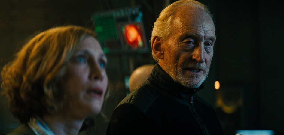 (L-R) VERA FARMIGA as Dr. Emma Russell and CHARLES DANCE as Jonah