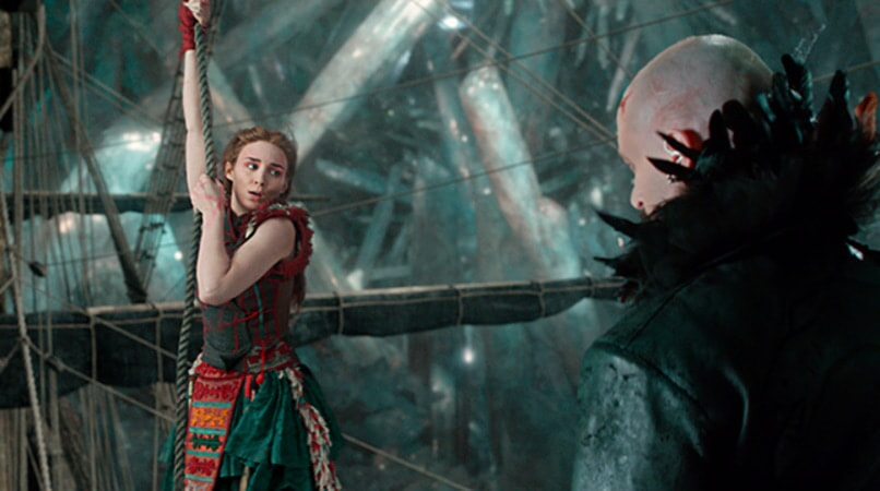 "ROONEY MARA as Tiger Lily and HUGH JACKMAN as Blackbeard in Warner Bros. Pictures' and RatPac-Dune Entertainment's action adventure ""PAN,"" a Warner Bros. Pictures release."