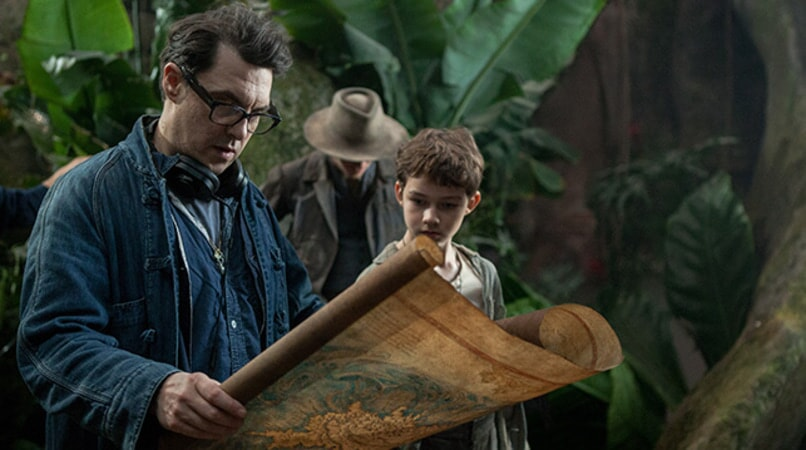 "Director JOE WRIGHT and LEVI MILLER on the set of Warner Bros. Pictures' and RatPac-Dune Entertainment's action adventure ""PAN,"" a Warner Bros. Pictures release."