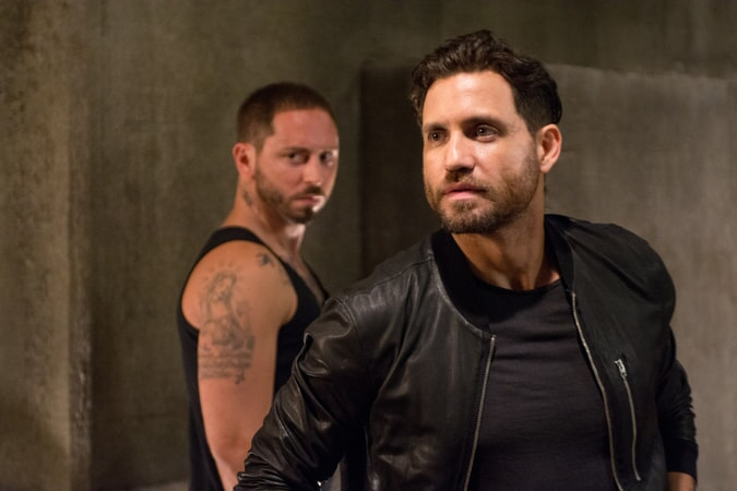 "MATIAS VARELA as Grommet and EDGAR RAMIREZ as Bodhi in Alcon Entertainment's action thriller ""POINT BREAK,"" a Warner Bros. Pictures release."