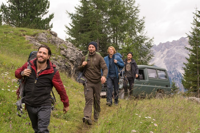 EDGAR RAMIREZ as Bodhi, MATIAS VARELA as Grommet, LUKE BRACEY as Utah and CLEMENS SCHICK as Roach in Alcon Entertainment's action thriller