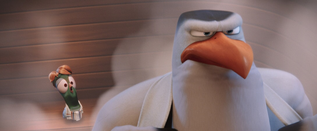 Pigeon Toady voiced by STEPHEN KRAMER GLICKMAN and Hunter voiced by KELSEY GRAMMER