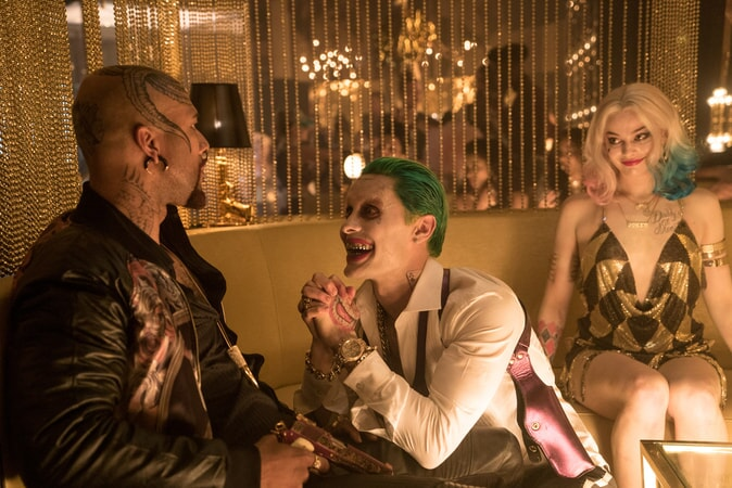 COMMON as Monster T, JARED LETO as The Joker and MARGOT ROBBIE as Harley Quinn