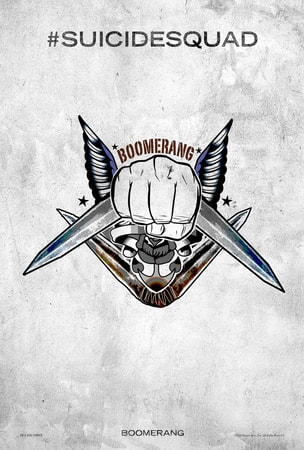 Suicide Squad tattoo poster: Boomerang