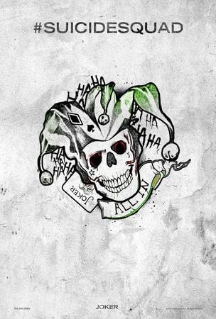 Suicide Squad tattoo poster: Joker