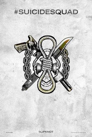 Suicide Squad tattoo poster: Slipknot