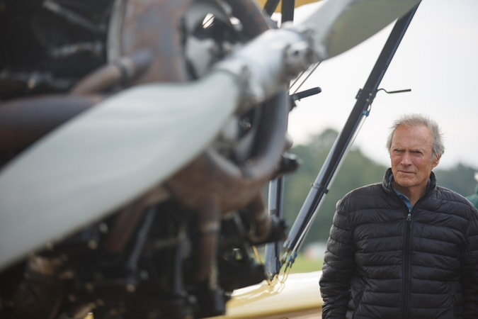 """Director/producer CLINT EASTWOOD on the set of Warner Bros. Pictures' and Village Roadshow Pictures' drama """"SULLY,"""" a Warner Bros. Pictures release."""