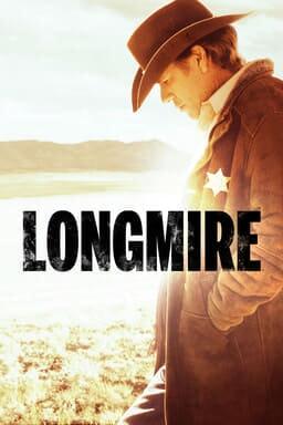 profile of Robert Taylor as Longmire wearing sheriff's badge in a desert landscape